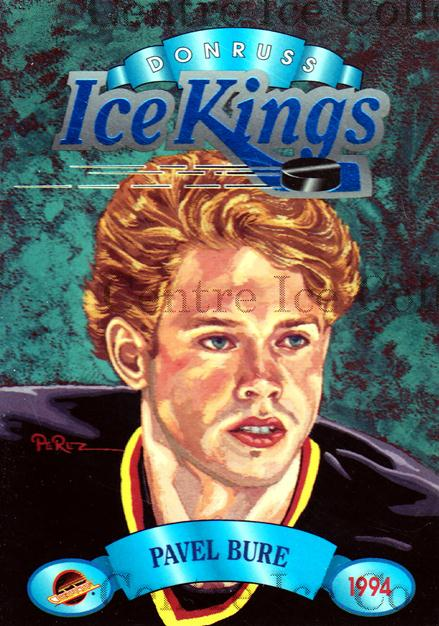 1993-94 Donruss Ice Kings #8 Pavel Bure<br/>5 In Stock - $3.00 each - <a href=https://centericecollectibles.foxycart.com/cart?name=1993-94%20Donruss%20Ice%20Kings%20%238%20Pavel%20Bure...&quantity_max=5&price=$3.00&code=241126 class=foxycart> Buy it now! </a>