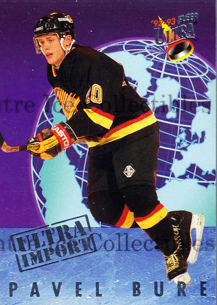 1992-93 Ultra Import #2 Pavel Bure<br/>3 In Stock - $3.00 each - <a href=https://centericecollectibles.foxycart.com/cart?name=1992-93%20Ultra%20Import%20%232%20Pavel%20Bure...&quantity_max=3&price=$3.00&code=241137 class=foxycart> Buy it now! </a>