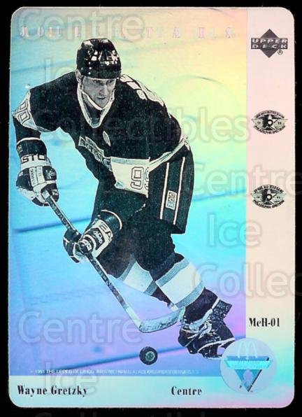 1991-92 McDonald's Upper Deck Hologram #1 Wayne Gretzky<br/>15 In Stock - $3.00 each - <a href=https://centericecollectibles.foxycart.com/cart?name=1991-92%20McDonald's%20Upper%20Deck%20Hologram%20%231%20Wayne%20Gretzky...&price=$3.00&code=241147 class=foxycart> Buy it now! </a>