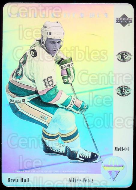 1991-92 McDonalds Upper Deck Hologram #4 Brett Hull<br/>1 In Stock - $2.00 each - <a href=https://centericecollectibles.foxycart.com/cart?name=1991-92%20McDonalds%20Upper%20Deck%20Hologram%20%234%20Brett%20Hull...&price=$2.00&code=241148 class=foxycart> Buy it now! </a>