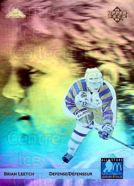 1992-93 McDonalds Upper Deck Hologram #4 Brian Leetch<br/>4 In Stock - $3.00 each - <a href=https://centericecollectibles.foxycart.com/cart?name=1992-93%20McDonalds%20Upper%20Deck%20Hologram%20%234%20Brian%20Leetch...&quantity_max=4&price=$3.00&code=241150 class=foxycart> Buy it now! </a>