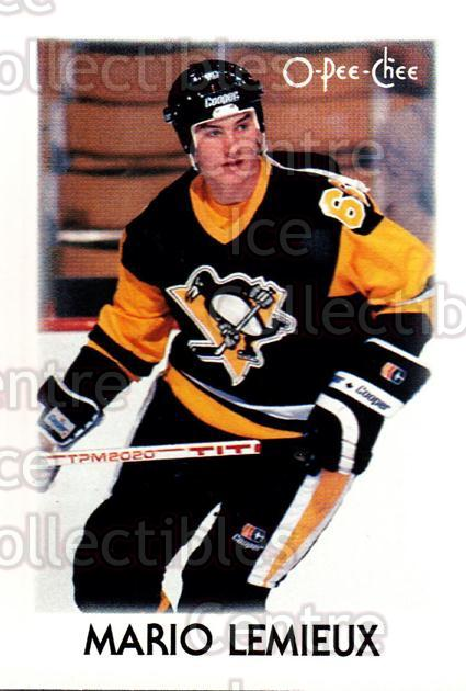1987-88 O-Pee-Chee Minis #23 Mario Lemieux<br/>11 In Stock - $3.00 each - <a href=https://centericecollectibles.foxycart.com/cart?name=1987-88%20O-Pee-Chee%20Minis%20%2323%20Mario%20Lemieux...&price=$3.00&code=241219 class=foxycart> Buy it now! </a>