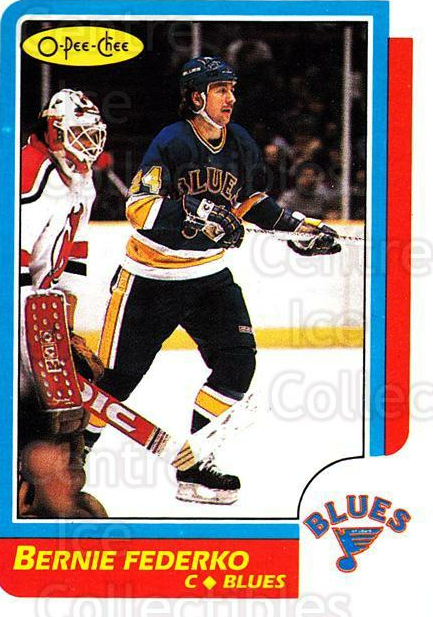1986-87 O-Pee-Chee #105 Bernie Federko<br/>3 In Stock - $1.00 each - <a href=https://centericecollectibles.foxycart.com/cart?name=1986-87%20O-Pee-Chee%20%23105%20Bernie%20Federko...&quantity_max=3&price=$1.00&code=24151 class=foxycart> Buy it now! </a>