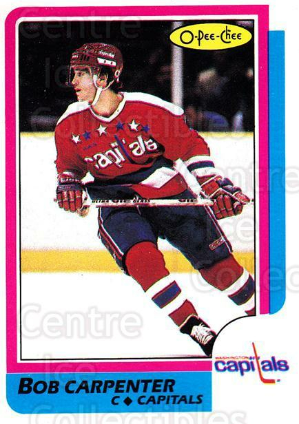1986-87 O-Pee-Chee #150 Bob Carpenter<br/>8 In Stock - $1.00 each - <a href=https://centericecollectibles.foxycart.com/cart?name=1986-87%20O-Pee-Chee%20%23150%20Bob%20Carpenter...&quantity_max=8&price=$1.00&code=24179 class=foxycart> Buy it now! </a>