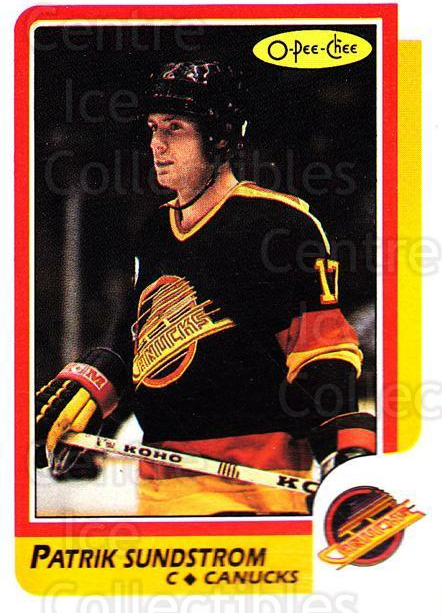 1986-87 O-Pee-Chee #156 Patrik Sundstrom<br/>5 In Stock - $1.00 each - <a href=https://centericecollectibles.foxycart.com/cart?name=1986-87%20O-Pee-Chee%20%23156%20Patrik%20Sundstro...&quantity_max=5&price=$1.00&code=24184 class=foxycart> Buy it now! </a>