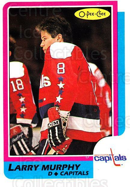 1986-87 O-Pee-Chee #185 Larry Murphy<br/>5 In Stock - $1.00 each - <a href=https://centericecollectibles.foxycart.com/cart?name=1986-87%20O-Pee-Chee%20%23185%20Larry%20Murphy...&quantity_max=5&price=$1.00&code=24198 class=foxycart> Buy it now! </a>