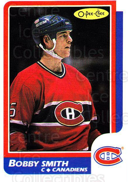 1986-87 O-Pee-Chee #188 Bobby Smith<br/>4 In Stock - $1.00 each - <a href=https://centericecollectibles.foxycart.com/cart?name=1986-87%20O-Pee-Chee%20%23188%20Bobby%20Smith...&quantity_max=4&price=$1.00&code=24200 class=foxycart> Buy it now! </a>