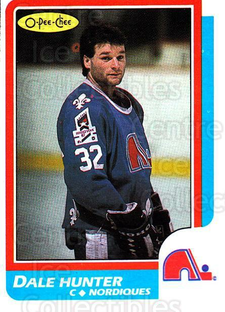 1986-87 O-Pee-Chee #192 Dale Hunter<br/>6 In Stock - $1.00 each - <a href=https://centericecollectibles.foxycart.com/cart?name=1986-87%20O-Pee-Chee%20%23192%20Dale%20Hunter...&quantity_max=6&price=$1.00&code=24203 class=foxycart> Buy it now! </a>