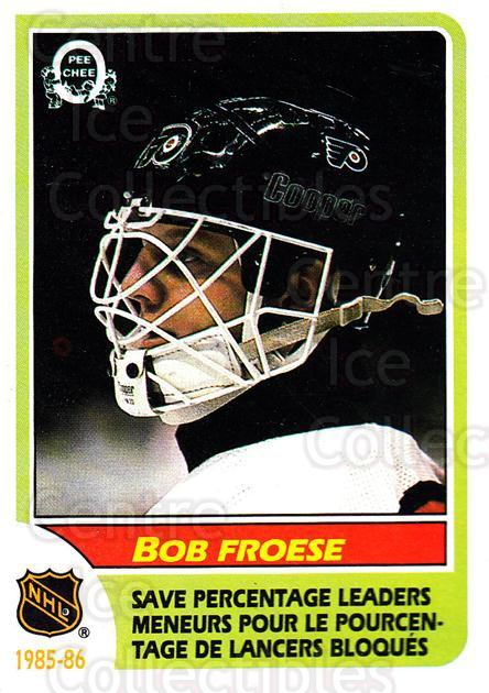 1986-87 O-Pee-Chee #264 Bob Froese<br/>6 In Stock - $1.00 each - <a href=https://centericecollectibles.foxycart.com/cart?name=1986-87%20O-Pee-Chee%20%23264%20Bob%20Froese...&quantity_max=6&price=$1.00&code=24217 class=foxycart> Buy it now! </a>