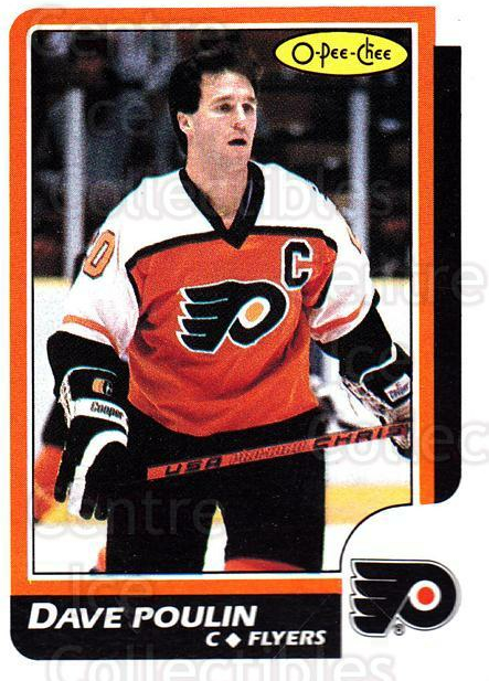 1986-87 O-Pee-Chee #71 Dave Poulin<br/>1 In Stock - $1.00 each - <a href=https://centericecollectibles.foxycart.com/cart?name=1986-87%20O-Pee-Chee%20%2371%20Dave%20Poulin...&quantity_max=1&price=$1.00&code=24237 class=foxycart> Buy it now! </a>