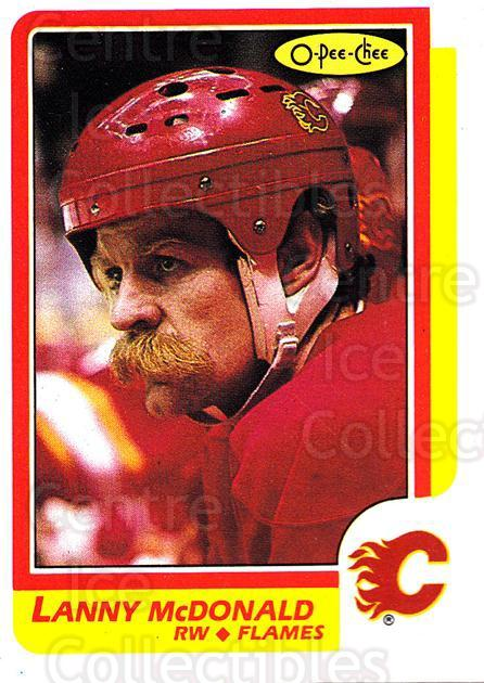 1986-87 O-Pee-Chee #8 Lanny McDonald<br/>1 In Stock - $1.00 each - <a href=https://centericecollectibles.foxycart.com/cart?name=1986-87%20O-Pee-Chee%20%238%20Lanny%20McDonald...&quantity_max=1&price=$1.00&code=24240 class=foxycart> Buy it now! </a>