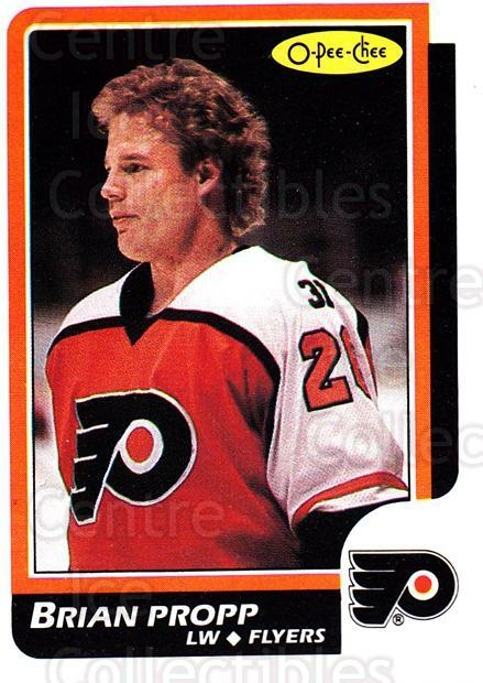 1986-87 O-Pee-Chee #86 Brian Propp<br/>6 In Stock - $1.00 each - <a href=https://centericecollectibles.foxycart.com/cart?name=1986-87%20O-Pee-Chee%20%2386%20Brian%20Propp...&quantity_max=6&price=$1.00&code=24243 class=foxycart> Buy it now! </a>