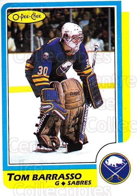 1986-87 O-Pee-Chee #91 Tom Barrasso<br/>4 In Stock - $1.00 each - <a href=https://centericecollectibles.foxycart.com/cart?name=1986-87%20O-Pee-Chee%20%2391%20Tom%20Barrasso...&price=$1.00&code=24246 class=foxycart> Buy it now! </a>