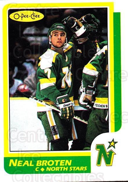 1986-87 O-Pee-Chee #99 Neal Broten<br/>3 In Stock - $1.00 each - <a href=https://centericecollectibles.foxycart.com/cart?name=1986-87%20O-Pee-Chee%20%2399%20Neal%20Broten...&quantity_max=3&price=$1.00&code=24249 class=foxycart> Buy it now! </a>