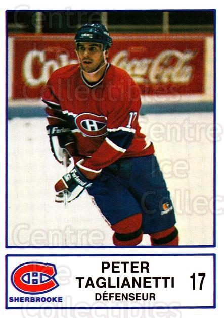 1986-87 Sherbrooke Canadiens #23 Peter Taglianetti<br/>1 In Stock - $3.00 each - <a href=https://centericecollectibles.foxycart.com/cart?name=1986-87%20Sherbrooke%20Canadiens%20%2323%20Peter%20Taglianet...&quantity_max=1&price=$3.00&code=24312 class=foxycart> Buy it now! </a>