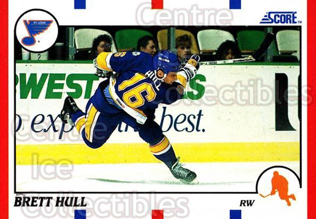 1990-91 Score Hottest and Rising Stars #100 Brett Hull<br/>9 In Stock - $2.00 each - <a href=https://centericecollectibles.foxycart.com/cart?name=1990-91%20Score%20Hottest%20and%20Rising%20Stars%20%23100%20Brett%20Hull...&price=$2.00&code=243226 class=foxycart> Buy it now! </a>