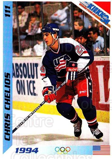1994 Finnish Jaa Kiekko #111 Chris Chelios<br/>3 In Stock - $2.00 each - <a href=https://centericecollectibles.foxycart.com/cart?name=1994%20Finnish%20Jaa%20Kiekko%20%23111%20Chris%20Chelios...&quantity_max=3&price=$2.00&code=243261 class=foxycart> Buy it now! </a>