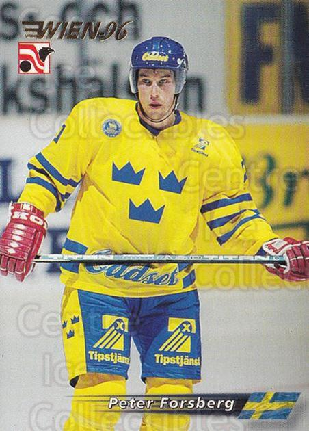 1996 Swedish Semic Wien #57 Peter Forsberg<br/>7 In Stock - $2.00 each - <a href=https://centericecollectibles.foxycart.com/cart?name=1996%20Swedish%20Semic%20Wien%20%2357%20Peter%20Forsberg...&price=$2.00&code=243284 class=foxycart> Buy it now! </a>