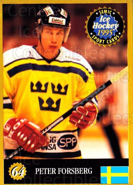 1995 Finnish Semic World Championships #64 Peter Forsberg<br/>6 In Stock - $2.00 each - <a href=https://centericecollectibles.foxycart.com/cart?name=1995%20Finnish%20Semic%20World%20Championships%20%2364%20Peter%20Forsberg...&quantity_max=6&price=$2.00&code=243314 class=foxycart> Buy it now! </a>