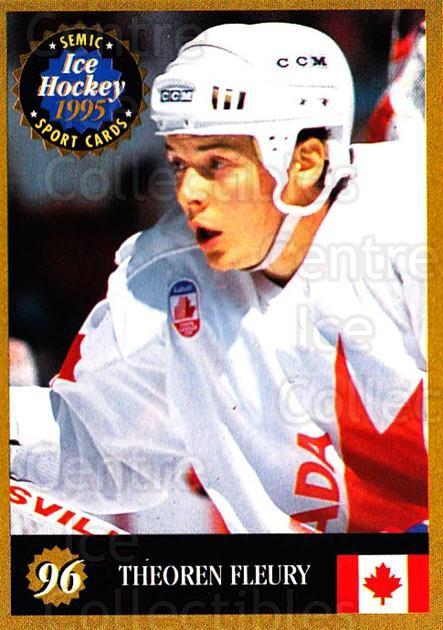1995 Finnish Semic World Championships #96 Theo Fleury<br/>9 In Stock - $2.00 each - <a href=https://centericecollectibles.foxycart.com/cart?name=1995%20Finnish%20Semic%20World%20Championships%20%2396%20Theo%20Fleury...&quantity_max=9&price=$2.00&code=243324 class=foxycart> Buy it now! </a>