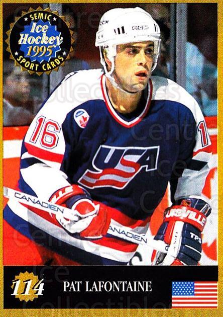 1995 Finnish Semic World Championships #114 Pat Lafontaine<br/>9 In Stock - $2.00 each - <a href=https://centericecollectibles.foxycart.com/cart?name=1995%20Finnish%20Semic%20World%20Championships%20%23114%20Pat%20Lafontaine...&quantity_max=9&price=$2.00&code=243331 class=foxycart> Buy it now! </a>