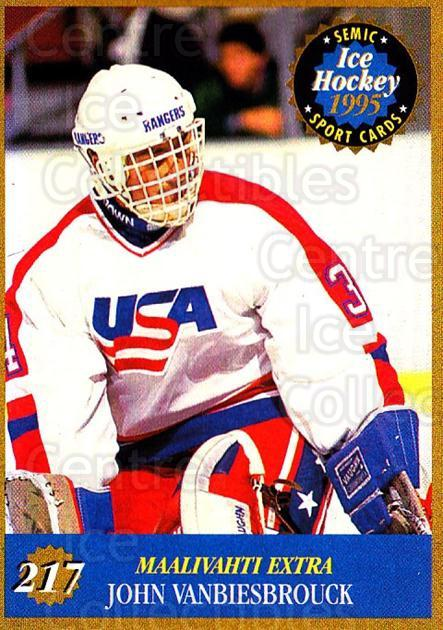 1995 Finnish Semic World Championships #217 John Vanbiesbrouck<br/>10 In Stock - $2.00 each - <a href=https://centericecollectibles.foxycart.com/cart?name=1995%20Finnish%20Semic%20World%20Championships%20%23217%20John%20Vanbiesbro...&quantity_max=10&price=$2.00&code=243340 class=foxycart> Buy it now! </a>
