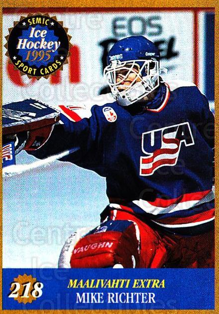 1995 Finnish Semic World Championships #218 Mike Richter<br/>6 In Stock - $2.00 each - <a href=https://centericecollectibles.foxycart.com/cart?name=1995%20Finnish%20Semic%20World%20Championships%20%23218%20Mike%20Richter...&quantity_max=6&price=$2.00&code=243341 class=foxycart> Buy it now! </a>