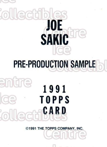 1991-92 Topps Promos #nno Joe Sakic<br/>32 In Stock - $3.00 each - <a href=https://centericecollectibles.foxycart.com/cart?name=1991-92%20Topps%20Promos%20%23nno%20Joe%20Sakic...&price=$3.00&code=243432 class=foxycart> Buy it now! </a>