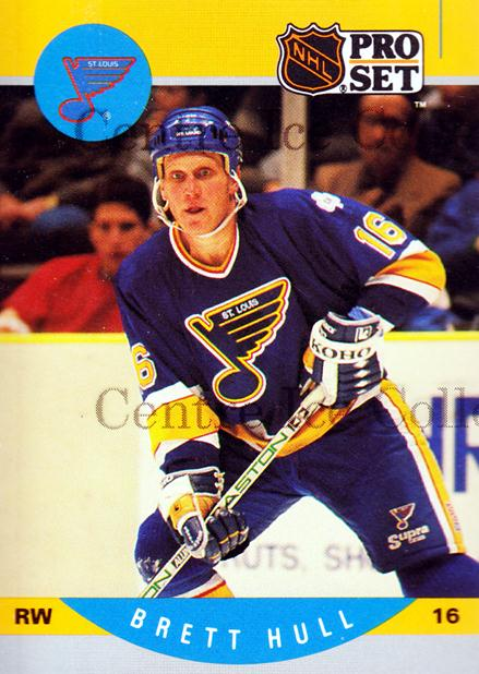 1990-91 Pro Set Preview Promos #1 Brett Hull<br/>46 In Stock - $3.00 each - <a href=https://centericecollectibles.foxycart.com/cart?name=1990-91%20Pro%20Set%20Preview%20Promos%20%231%20Brett%20Hull...&price=$3.00&code=243479 class=foxycart> Buy it now! </a>