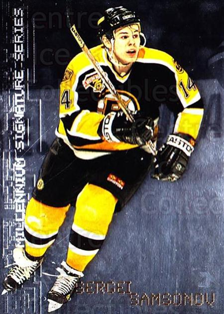 1999-00 BAP Millennium Promos #2 Sergei Samsonov<br/>2 In Stock - $5.00 each - <a href=https://centericecollectibles.foxycart.com/cart?name=1999-00%20BAP%20Millennium%20Promos%20%232%20Sergei%20Samsonov...&quantity_max=2&price=$5.00&code=243526 class=foxycart> Buy it now! </a>