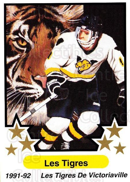 1991-92 7th Inning Sketch QMJHL The Teams #11 Victoriaville Tigres<br/>1 In Stock - $2.00 each - <a href=https://centericecollectibles.foxycart.com/cart?name=1991-92%207th%20Inning%20Sketch%20QMJHL%20The%20Teams%20%2311%20Victoriaville%20T...&quantity_max=1&price=$2.00&code=243724 class=foxycart> Buy it now! </a>