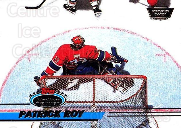 1993-94 Stadium Club Members Only #231 Patrick Roy<br/>2 In Stock - $15.00 each - <a href=https://centericecollectibles.foxycart.com/cart?name=1993-94%20Stadium%20Club%20Members%20Only%20%23231%20Patrick%20Roy...&price=$15.00&code=243748 class=foxycart> Buy it now! </a>