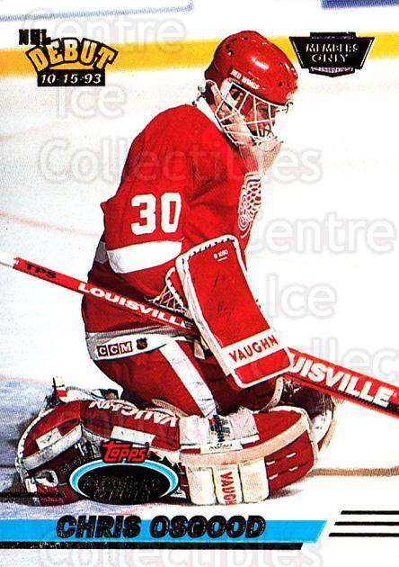 1993-94 Stadium Club Members Only #350 Chris Osgood<br/>3 In Stock - $5.00 each - <a href=https://centericecollectibles.foxycart.com/cart?name=1993-94%20Stadium%20Club%20Members%20Only%20%23350%20Chris%20Osgood...&price=$5.00&code=243751 class=foxycart> Buy it now! </a>