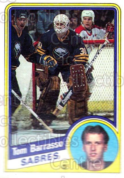 1984-85 Topps #14 Tom Barrasso<br/>4 In Stock - $3.00 each - <a href=https://centericecollectibles.foxycart.com/cart?name=1984-85%20Topps%20%2314%20Tom%20Barrasso...&price=$3.00&code=243766 class=foxycart> Buy it now! </a>