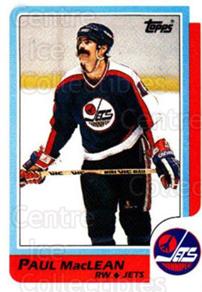 1986-87 Topps #114 Paul MacLean<br/>5 In Stock - $1.00 each - <a href=https://centericecollectibles.foxycart.com/cart?name=1986-87%20Topps%20%23114%20Paul%20MacLean...&quantity_max=5&price=$1.00&code=24392 class=foxycart> Buy it now! </a>