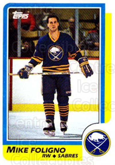 1986-87 Topps #127 Mike Foligno<br/>7 In Stock - $1.00 each - <a href=https://centericecollectibles.foxycart.com/cart?name=1986-87%20Topps%20%23127%20Mike%20Foligno...&quantity_max=7&price=$1.00&code=24405 class=foxycart> Buy it now! </a>