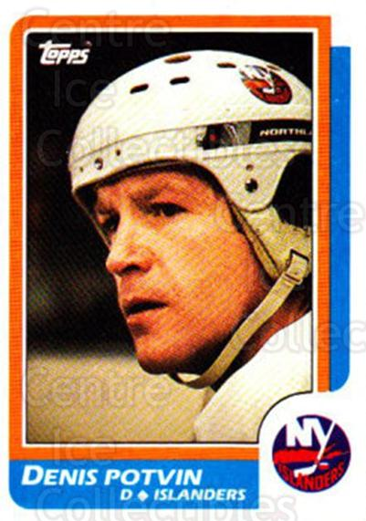 1986-87 Topps #129 Denis Potvin<br/>5 In Stock - $2.00 each - <a href=https://centericecollectibles.foxycart.com/cart?name=1986-87%20Topps%20%23129%20Denis%20Potvin...&quantity_max=5&price=$2.00&code=24407 class=foxycart> Buy it now! </a>