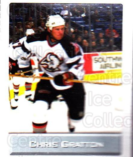 2003 NHL Stickers Collection #29 Chris Gratton<br/>3 In Stock - $2.00 each - <a href=https://centericecollectibles.foxycart.com/cart?name=2003%20NHL%20Stickers%20Collection%20%2329%20Chris%20Gratton...&quantity_max=3&price=$2.00&code=244081 class=foxycart> Buy it now! </a>