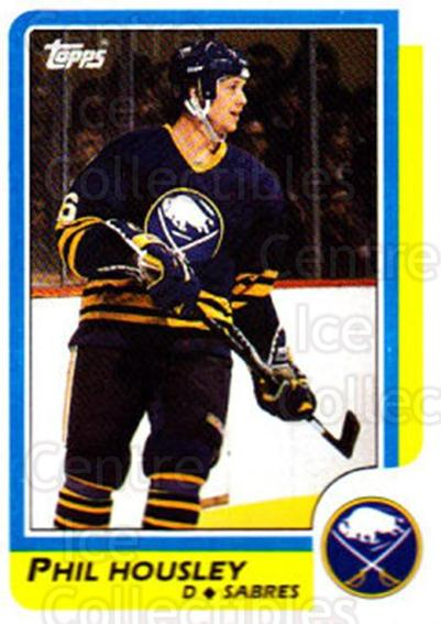 1986-87 Topps #154 Phil Housley<br/>7 In Stock - $1.00 each - <a href=https://centericecollectibles.foxycart.com/cart?name=1986-87%20Topps%20%23154%20Phil%20Housley...&quantity_max=7&price=$1.00&code=24432 class=foxycart> Buy it now! </a>