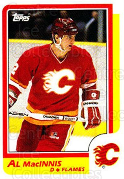 1986-87 Topps #173 Al MacInnis<br/>4 In Stock - $2.00 each - <a href=https://centericecollectibles.foxycart.com/cart?name=1986-87%20Topps%20%23173%20Al%20MacInnis...&quantity_max=4&price=$2.00&code=24452 class=foxycart> Buy it now! </a>