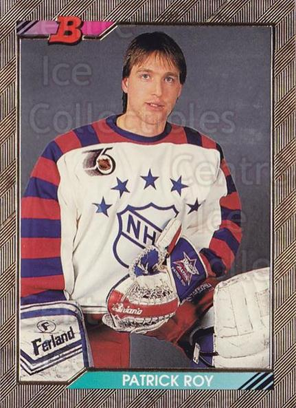 1992-93 Bowman #239 Patrick Roy<br/>13 In Stock - $3.00 each - <a href=https://centericecollectibles.foxycart.com/cart?name=1992-93%20Bowman%20%23239%20Patrick%20Roy...&price=$3.00&code=244591 class=foxycart> Buy it now! </a>