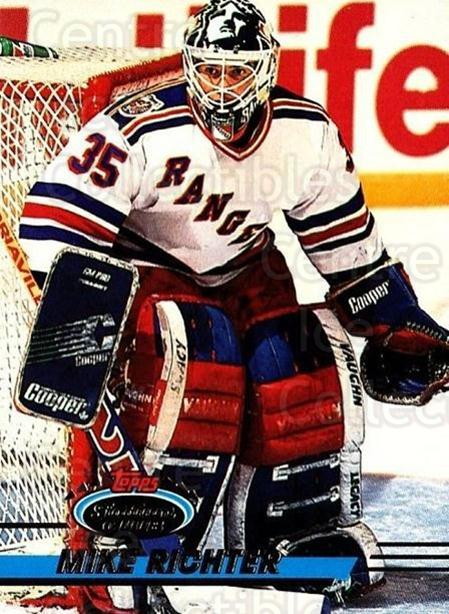 1993-94 Stadium Club #64 Mike Richter<br/>2 In Stock - $1.00 each - <a href=https://centericecollectibles.foxycart.com/cart?name=1993-94%20Stadium%20Club%20%2364%20Mike%20Richter...&quantity_max=2&price=$1.00&code=244858 class=foxycart> Buy it now! </a>