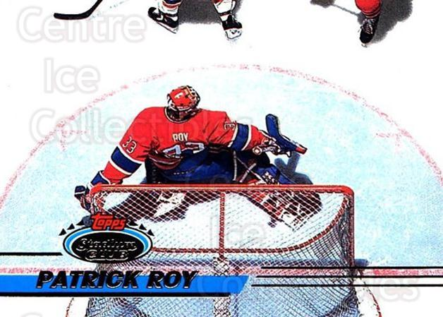 1993-94 Stadium Club #231 Patrick Roy<br/>1 In Stock - $2.00 each - <a href=https://centericecollectibles.foxycart.com/cart?name=1993-94%20Stadium%20Club%20%23231%20Patrick%20Roy...&quantity_max=1&price=$2.00&code=245025 class=foxycart> Buy it now! </a>