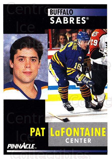 1991-92 Pinnacle #25 Pat LaFontaine<br/>8 In Stock - $1.00 each - <a href=https://centericecollectibles.foxycart.com/cart?name=1991-92%20Pinnacle%20%2325%20Pat%20LaFontaine...&quantity_max=8&price=$1.00&code=245319 class=foxycart> Buy it now! </a>