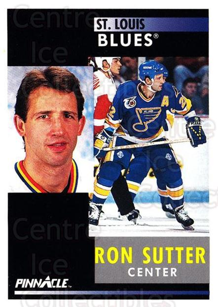 1991-92 Pinnacle #95 Ron Sutter<br/>8 In Stock - $1.00 each - <a href=https://centericecollectibles.foxycart.com/cart?name=1991-92%20Pinnacle%20%2395%20Ron%20Sutter...&quantity_max=8&price=$1.00&code=245389 class=foxycart> Buy it now! </a>
