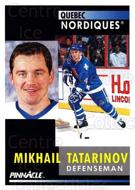 1991-92 Pinnacle #97 Mikhail Tatarinov<br/>8 In Stock - $1.00 each - <a href=https://centericecollectibles.foxycart.com/cart?name=1991-92%20Pinnacle%20%2397%20Mikhail%20Tatarin...&quantity_max=8&price=$1.00&code=245391 class=foxycart> Buy it now! </a>