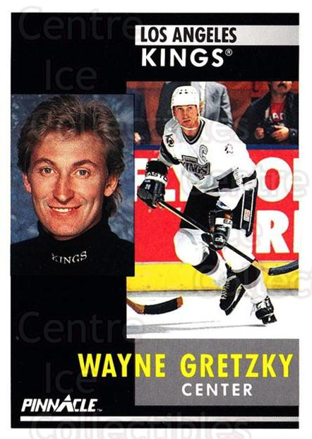 1991-92 Pinnacle #100 Wayne Gretzky<br/>1 In Stock - $2.00 each - <a href=https://centericecollectibles.foxycart.com/cart?name=1991-92%20Pinnacle%20%23100%20Wayne%20Gretzky...&quantity_max=1&price=$2.00&code=245394 class=foxycart> Buy it now! </a>