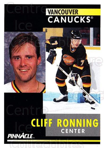 1991-92 Pinnacle #106 Cliff Ronning<br/>8 In Stock - $1.00 each - <a href=https://centericecollectibles.foxycart.com/cart?name=1991-92%20Pinnacle%20%23106%20Cliff%20Ronning...&quantity_max=8&price=$1.00&code=245400 class=foxycart> Buy it now! </a>