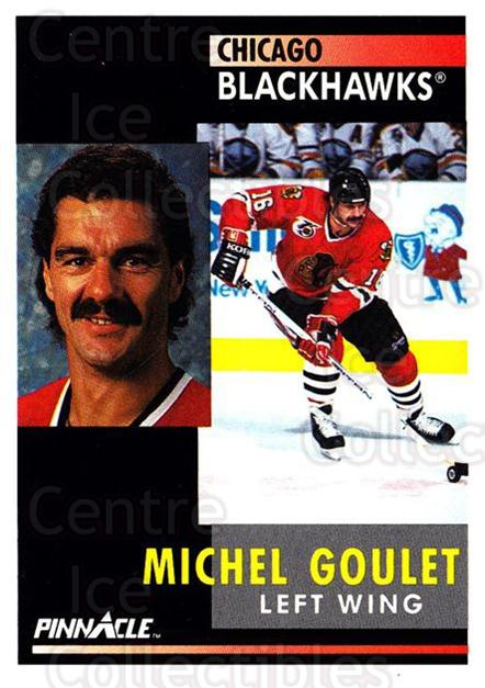 1991-92 Pinnacle #109 Michel Goulet<br/>8 In Stock - $1.00 each - <a href=https://centericecollectibles.foxycart.com/cart?name=1991-92%20Pinnacle%20%23109%20Michel%20Goulet...&quantity_max=8&price=$1.00&code=245403 class=foxycart> Buy it now! </a>