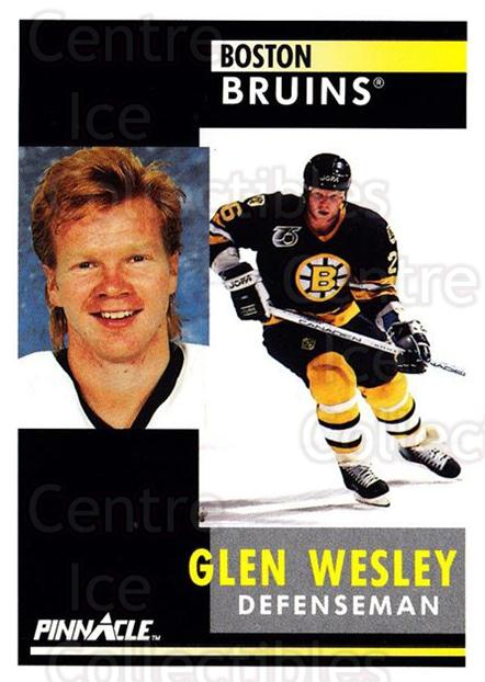 1991-92 Pinnacle #112 Glen Wesley<br/>7 In Stock - $1.00 each - <a href=https://centericecollectibles.foxycart.com/cart?name=1991-92%20Pinnacle%20%23112%20Glen%20Wesley...&quantity_max=7&price=$1.00&code=245406 class=foxycart> Buy it now! </a>